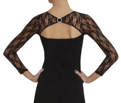 Capezio DSA003 Maglia in pizzo , Abbigliamento , Danza Moderna Jazz Ballo Donna