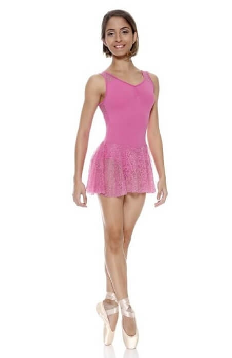 So Danca E-11061 Body con gonnellino pizzo