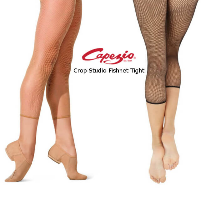 Capezio 3409 Collant a rete crop studio fishnet