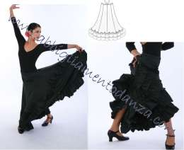 Capezio FLM101 Gonna flamenco  - miniatura