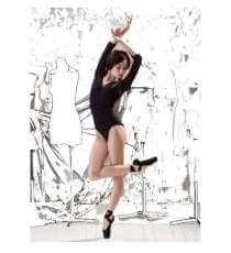 Abito da Ballo Standard Gonna da Allenamento Tango Valzer JTSYUXN Ragazza Adulta Elegante Abito da Ballo Moderno Mezza Manica in Pizzo Costumi da Ballo